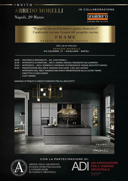 Frame il nuovo programma cucina di Massimo Iosa Ghini- Cucina Frame- Snaidero - Arredo Morelli - Giugliano in Campania - Napoli