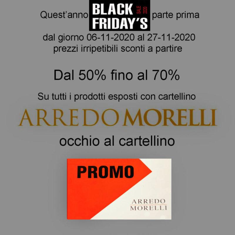 Black Friday 2020 ArredoMorelli - giugliano in campanioa